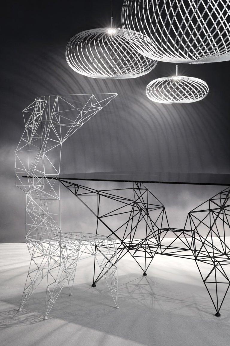 Contemporary Pylon Chair in White by Tom Dixon