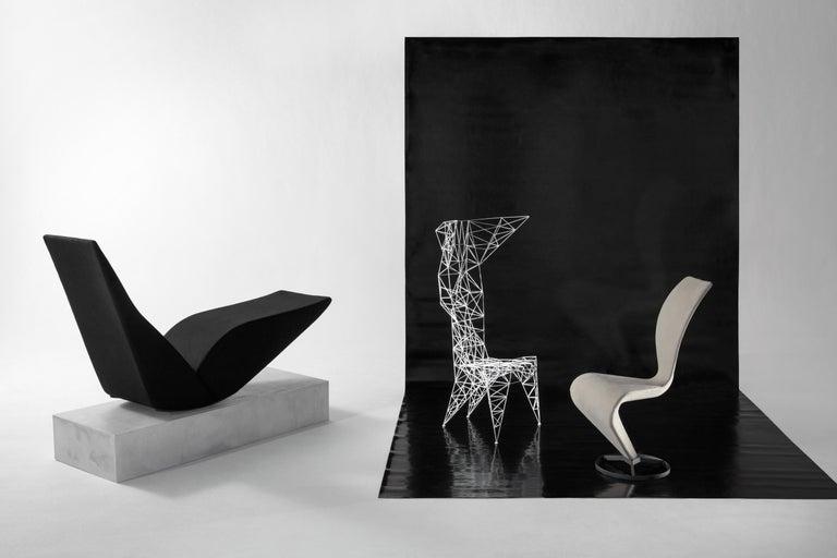 Steel Pylon Chair in White by Tom Dixon
