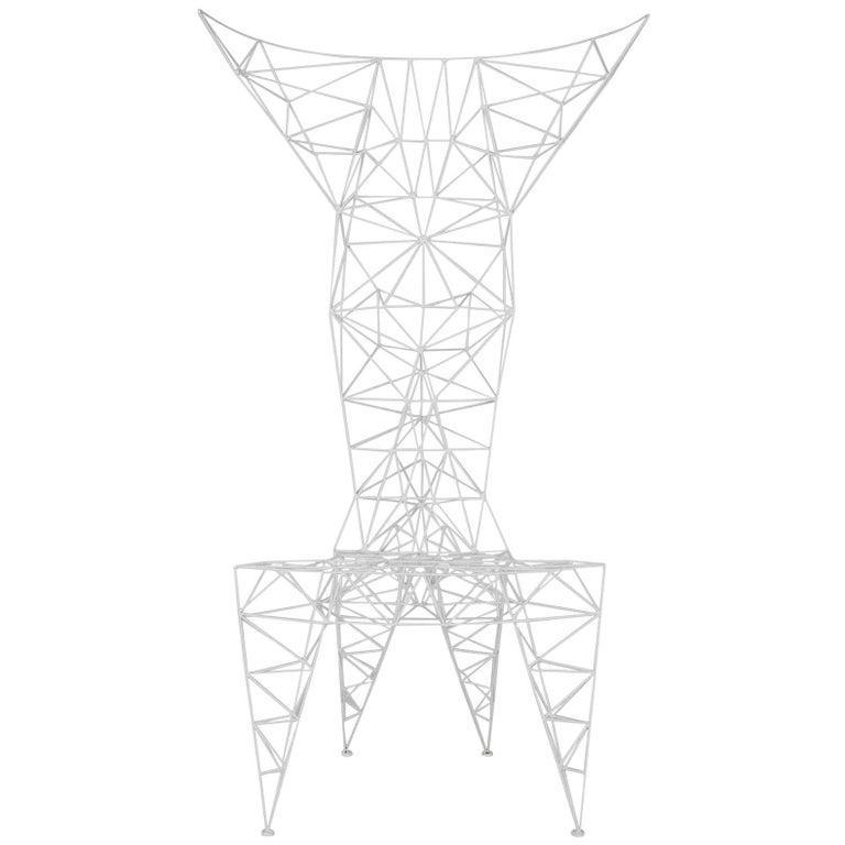 Pylon Chair in White by Tom Dixon