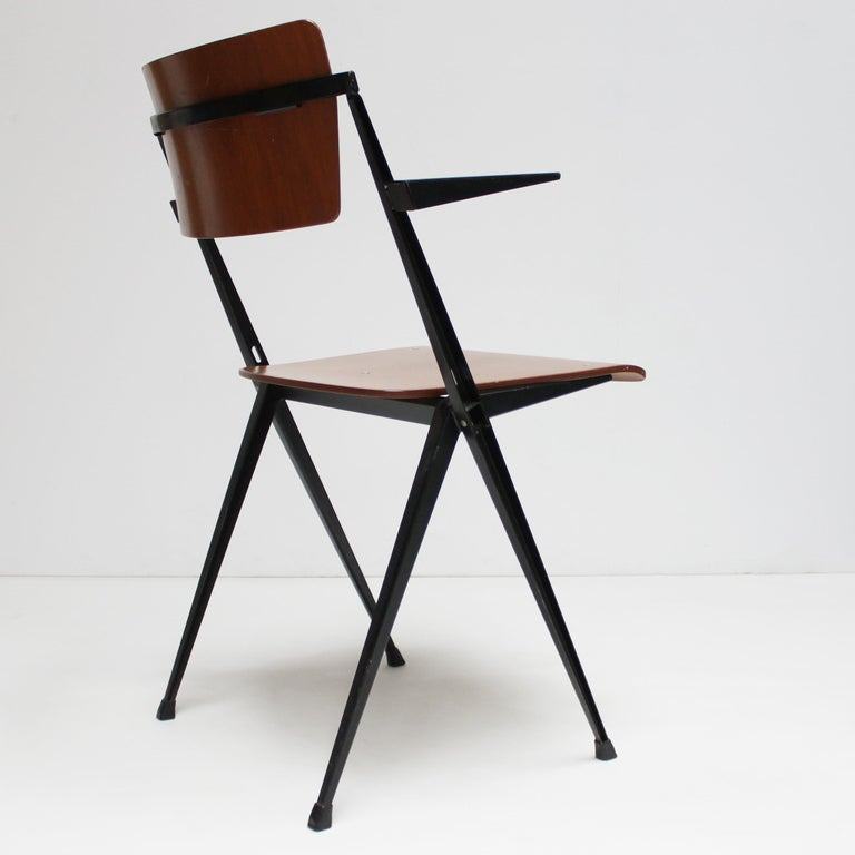 Mid-20th Century Pyramid Armchair by Wim Rietveld for De Cirkel For Sale