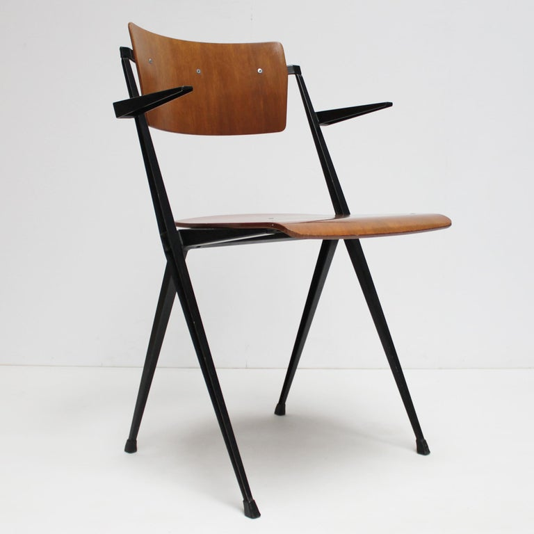 Pyramid Armchair by Wim Rietveld for De Cirkel For Sale 1