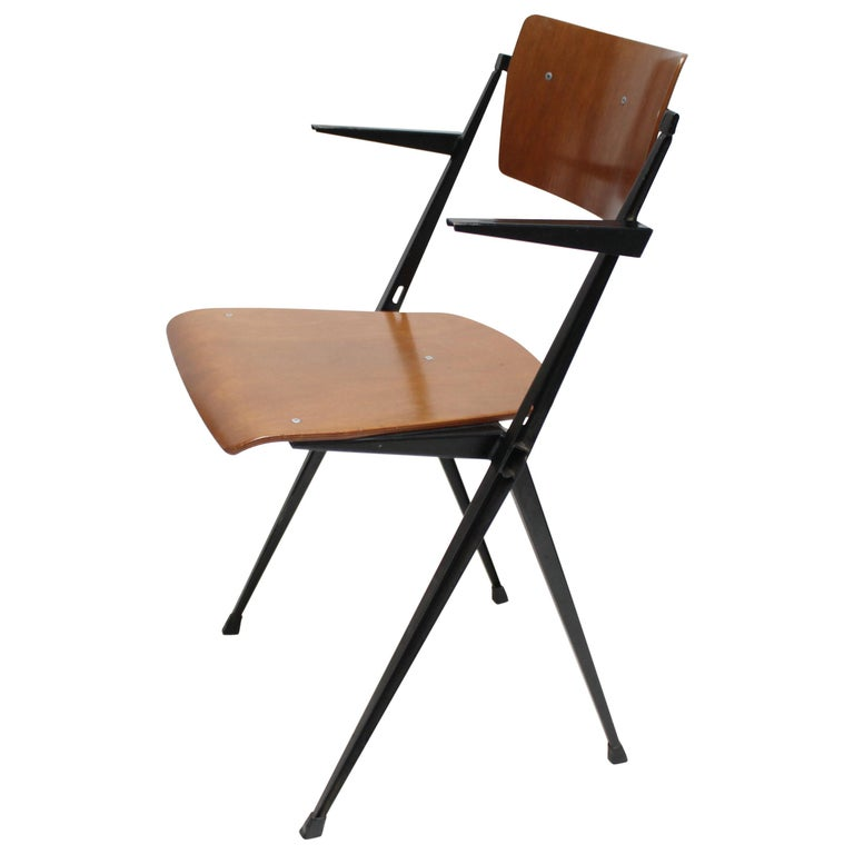 Pyramid Armchair by Wim Rietveld for De Cirkel For Sale