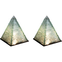 Pyramid Glass Lamps by Pia Manu