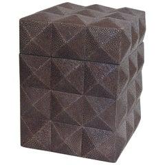 Pyramid Gray Shagreen Box