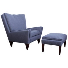 Pyramid Lounge Chair and Ottoman by Illum Wikkelsø