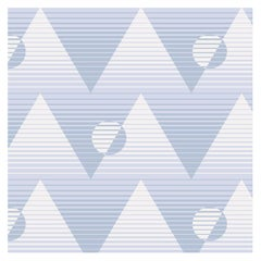 Pyramide du Soleil Designer Wallpaper in Aquifer 'Pale Blue and Periwinkle'