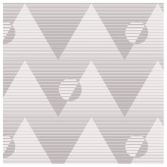 Pyramide du Soleil Designer Wallpaper in Color Granite 'Warm Grays'