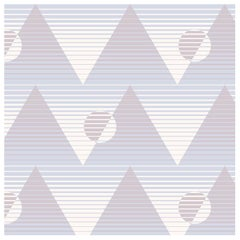 Pyramide du Soleil Designer Wallpaper in Juno 'Dusty Mauve, Blue and Blush'