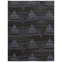 Pyramide du Soleil Woven Commercial Grade Fabric in Dorado, Black and Navy