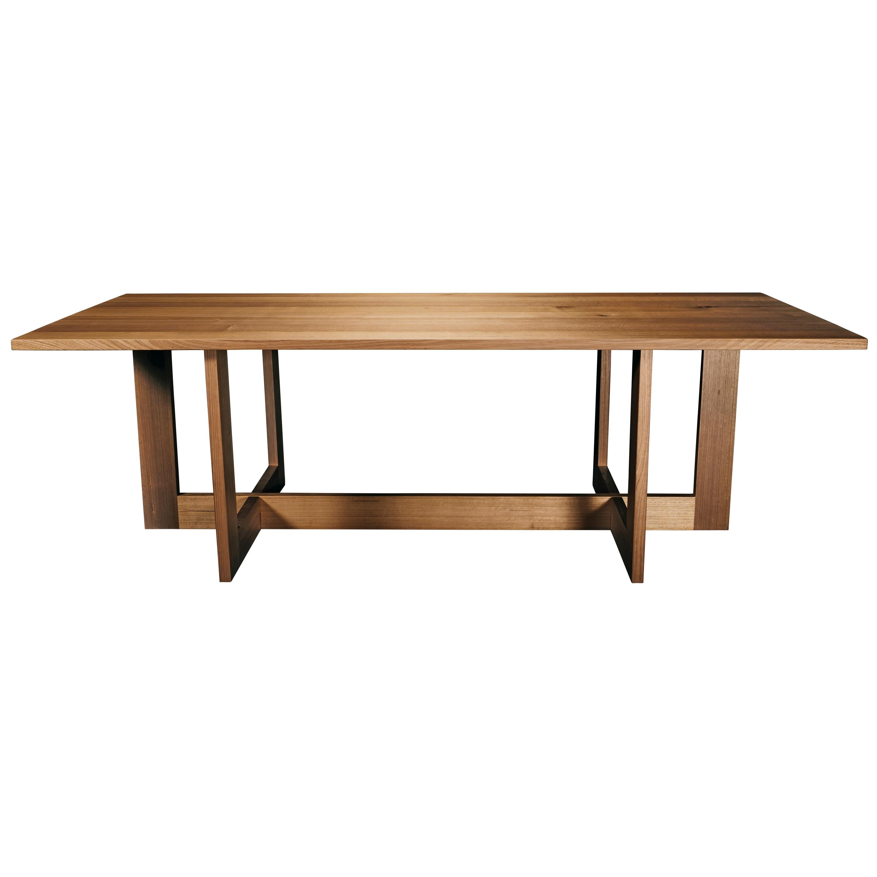 Pyrenees Dining Table, Handcrafted in Victorian Ash Hardwood