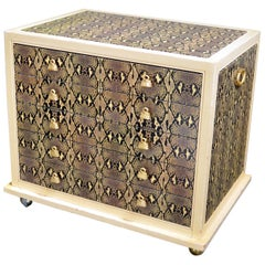 Judith Leiber Custom Python Clad Storage Cabinet with Drawers
