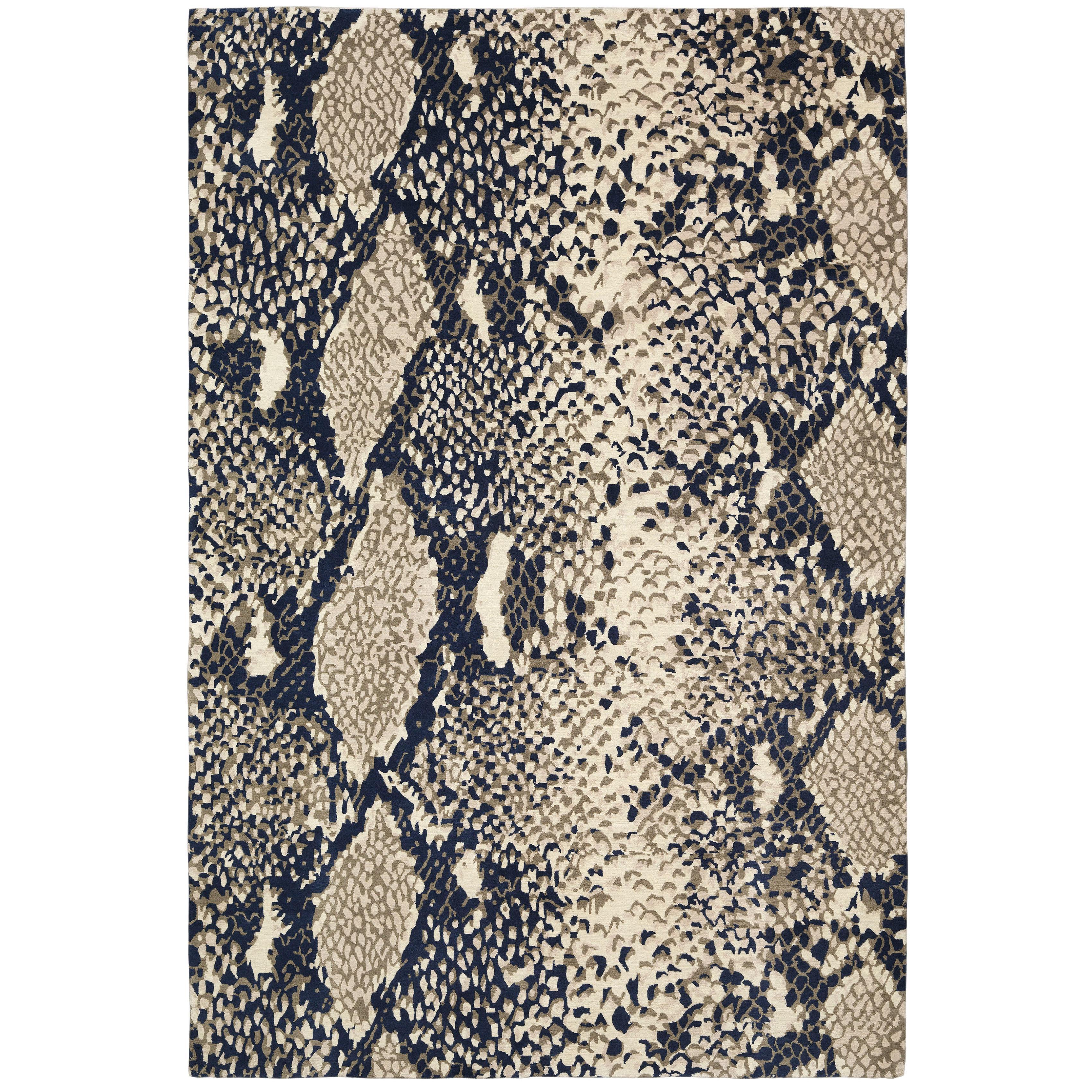 Python Glory Hand-Knotted 10x8 Rug in Wool and Silk by Diane von Furstenberg