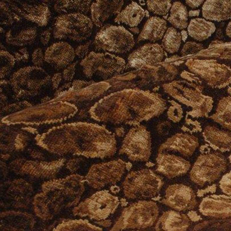 Modern Python, Hand-Knotted Silk Rug For Sale