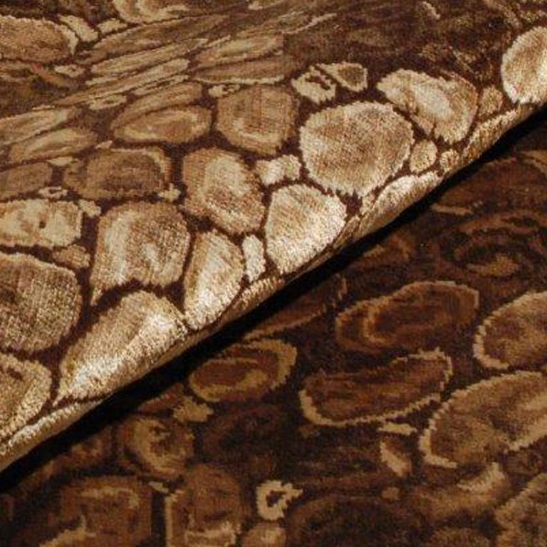 Python, Hand-Knotted Silk Rug In Excellent Condition For Sale In Chicago, IL