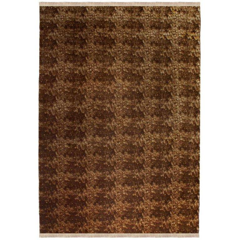 Python, Hand-Knotted Silk Rug For Sale