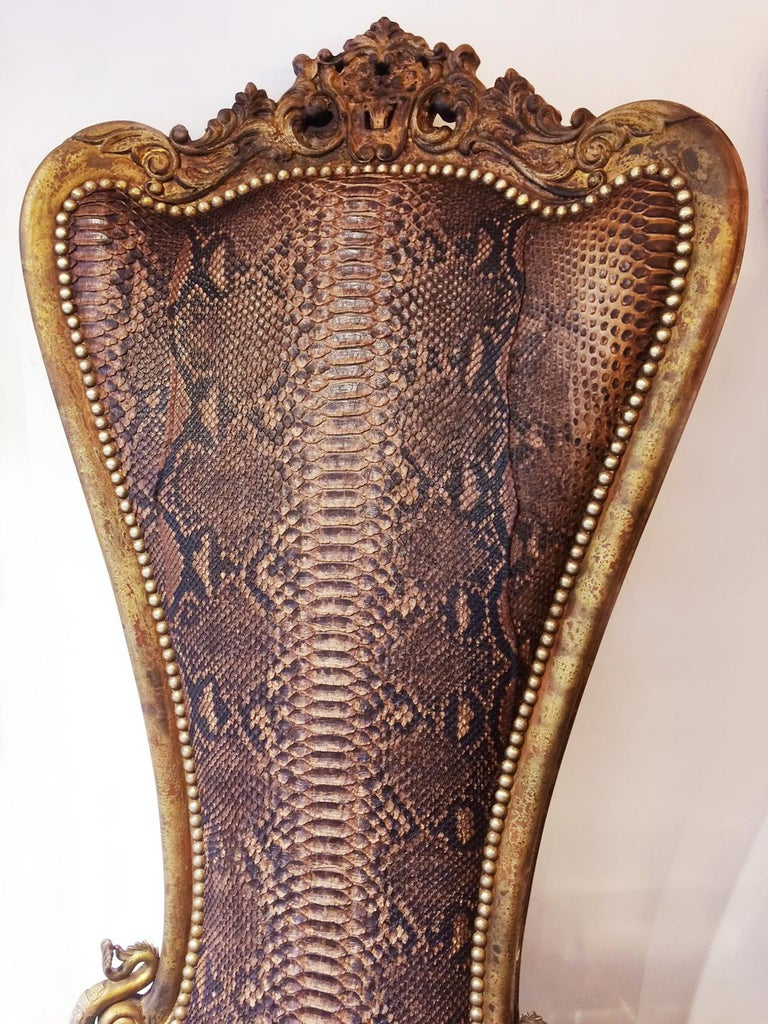 French Python Throne  For Sale