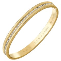 """Q"" Bracelet, 18 Karat Yellow Gold and Diamond, Q6"