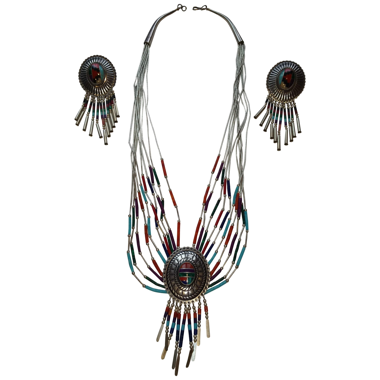 Native American Chandelier Earrings