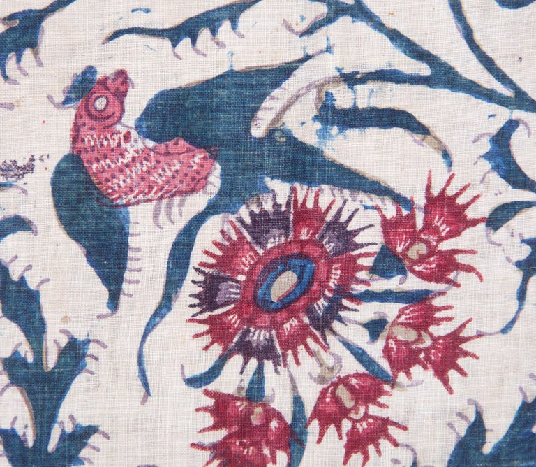 Cotton Qalamkar Panel from India, Mid-19th Century For Sale