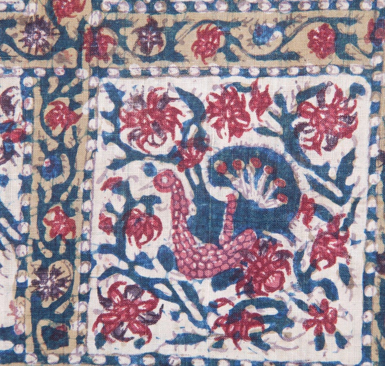 Qalamkar Panel from India, Mid-19th Century For Sale 1