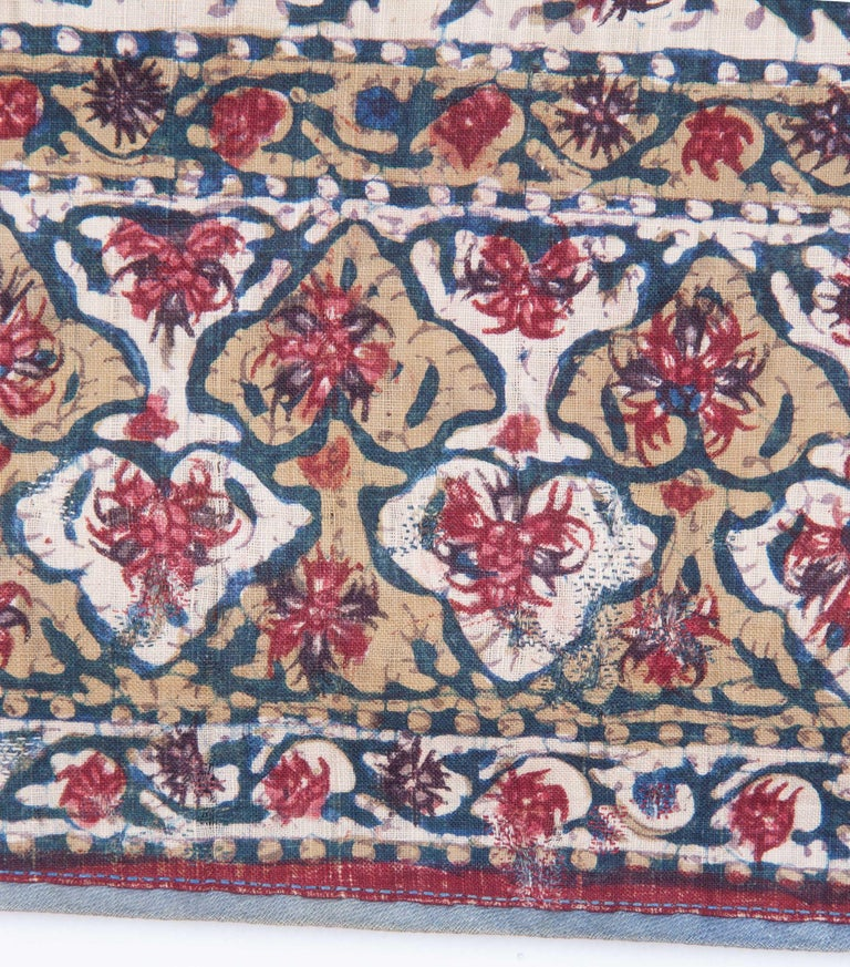 Qalamkar Panel from India, Mid-19th Century For Sale 2