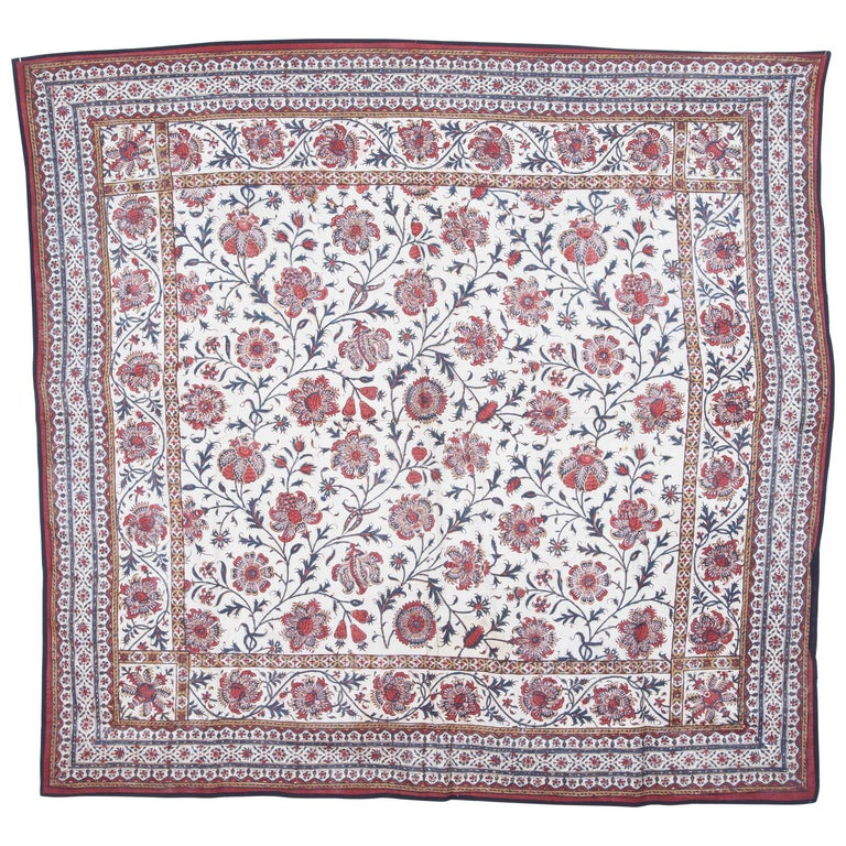 Qalamkar Panel from India, Mid-19th Century For Sale
