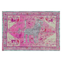 Qashqai Refracted Silk Rug Hand Knotted Contemporary Modern Design