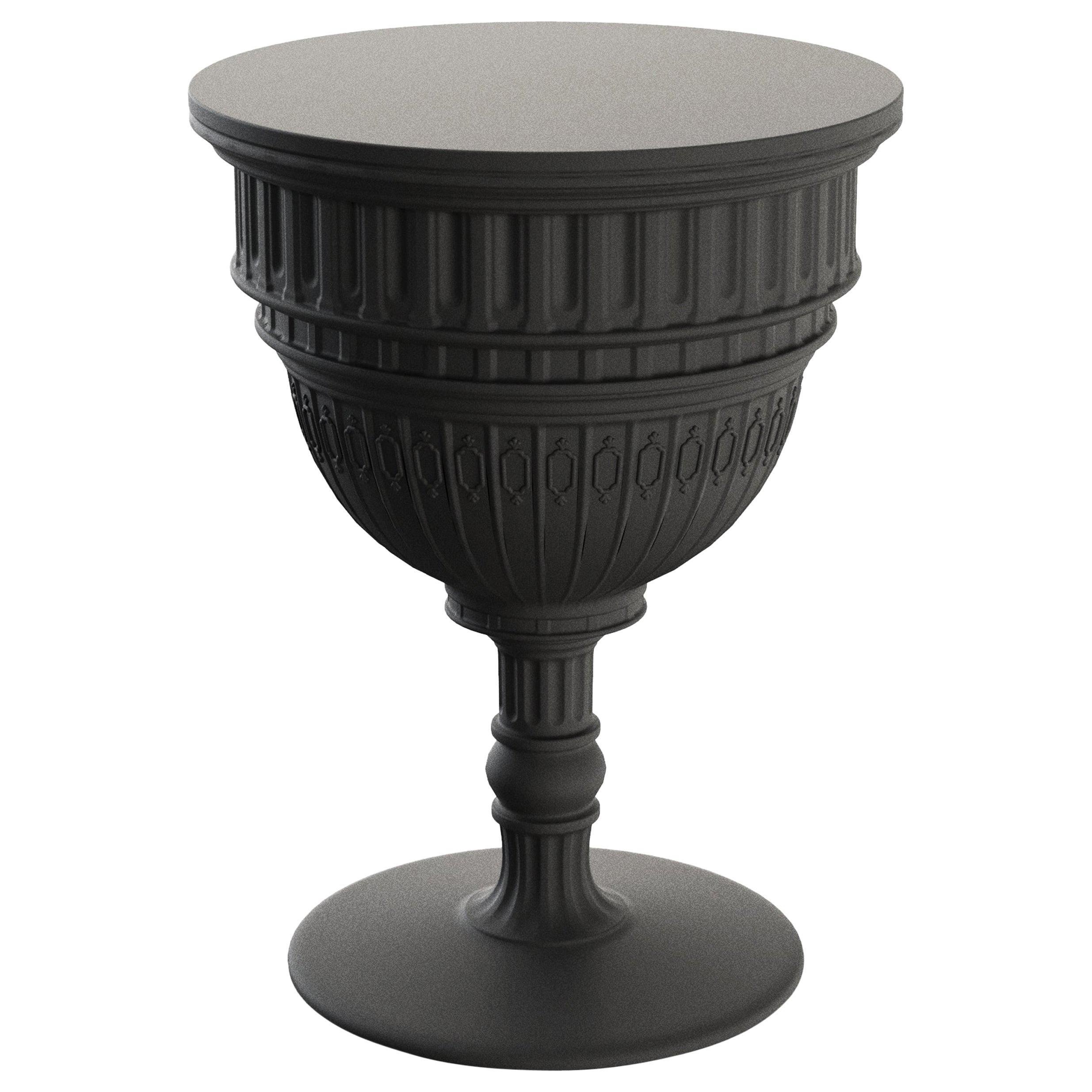 Modern Neoclassic Black Plastic Side Table by Studio Job