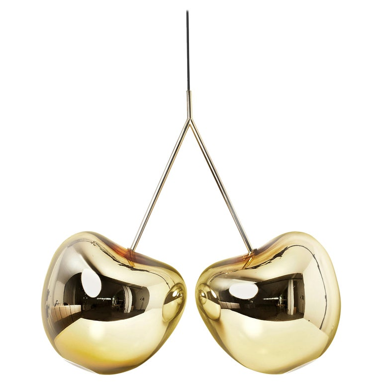 For Sale: Gold Qeeboo Cherry Lamp Metal Finish by Nika Zupanc