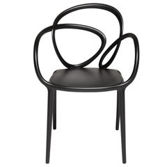 Modern Black Green Beige or White Nordic Loop Dining or Accent Chair Set of 2