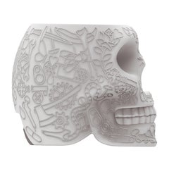 Skull Mini USB rechargable external battery in black by Studio Job