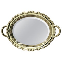 Qeeboo Plateau Mirror Metal Finish by Studio Job