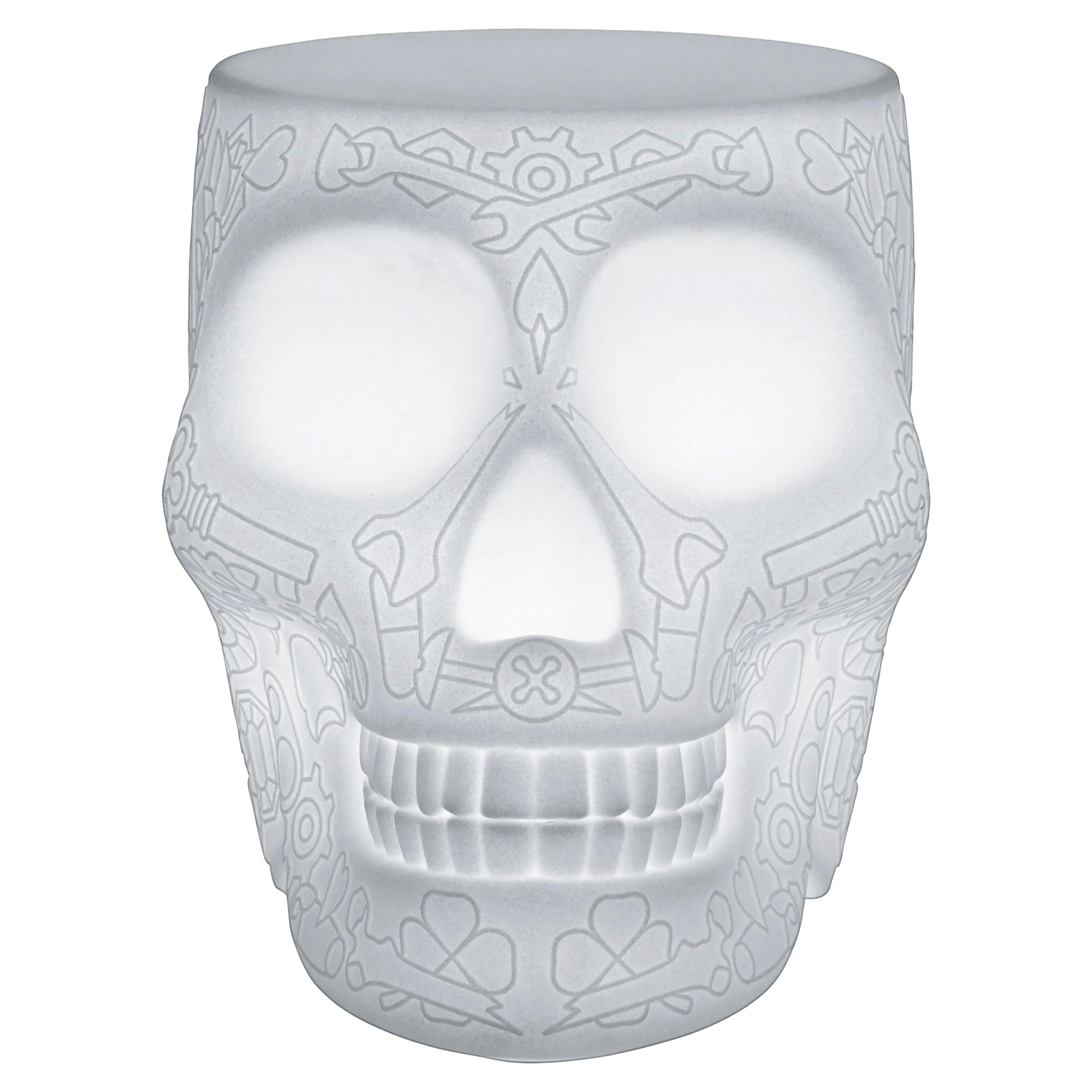 Modern Mexican Calavera Skull Stool or Side Table Lamp By Studio Job