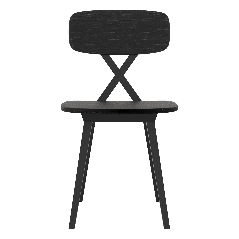 Modern Black Dark Wood Dining Chair By Nika Zupanc