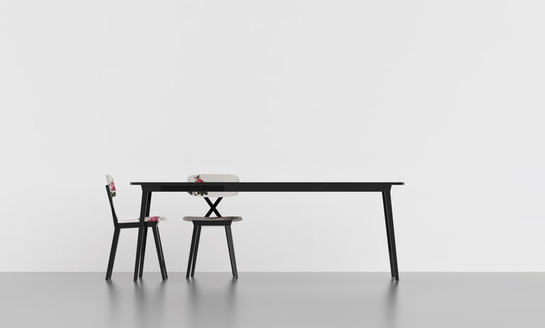 Italian Modern Flower Dark Wood Dining Chair By Nika Zupanc For Sale