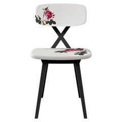 Qeeboo X Chair with Flower Cushion by Nika Zupanc