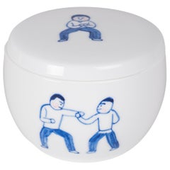 """""""Qi Gong"""" Hand Painted Container by Deng Ying"""