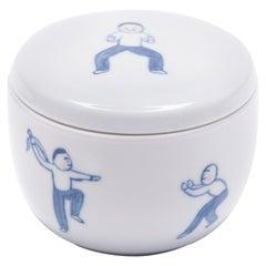 """Qi Gong"" Hand Painted Jar by Deng Ying"