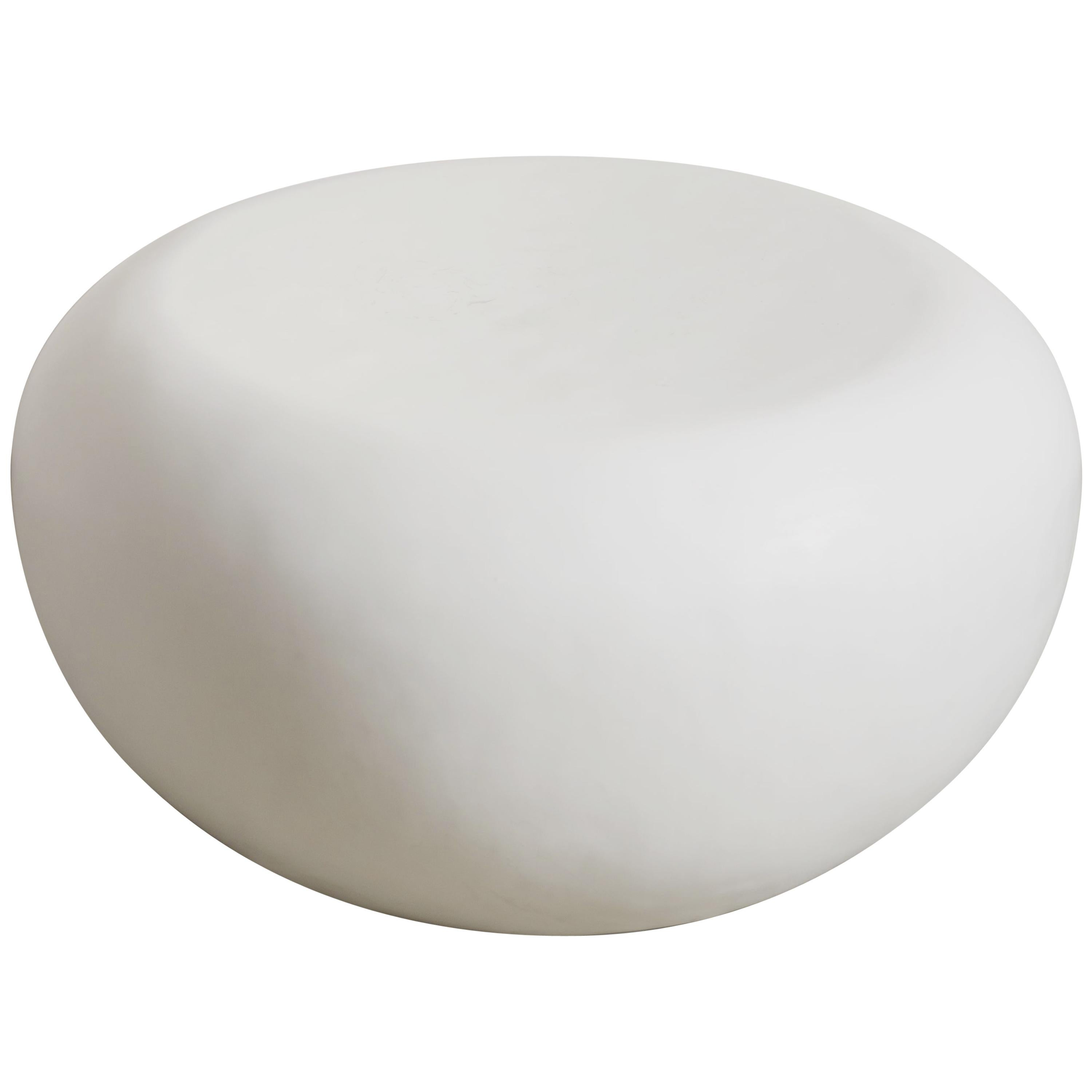 Qi Seat, Cream Lacquer by Robert Kuo, Hand Repousse, Limited Edition