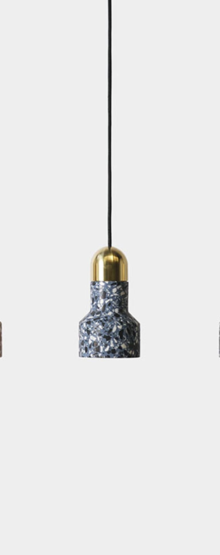 'Qie' Black Terrazzo Pendant Lamp by Bentu Design In New Condition For Sale In Paris, FR
