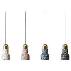 'Qie' Terrazzo Pendant Lamps by Bentu Design