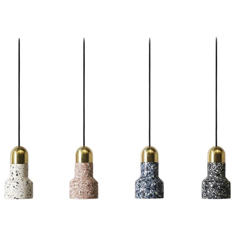 'Qie' Terrazzo Pendant Lamps by Bentu Design For Sale