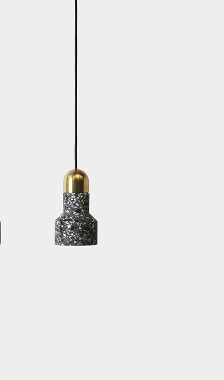 Chinese 'Qie' White Terrazzo Pendant Lamp by Bentu Design For Sale
