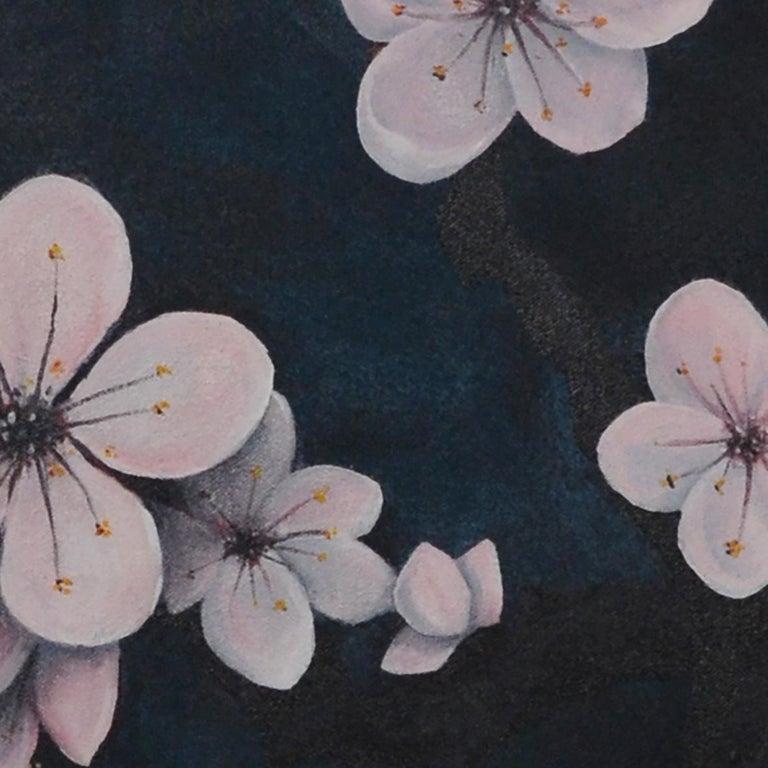 Prunus Mume, Oil & acrylic on canvas, 70cm x 60cm, 2020 - Contemporary Painting by Qijun Li
