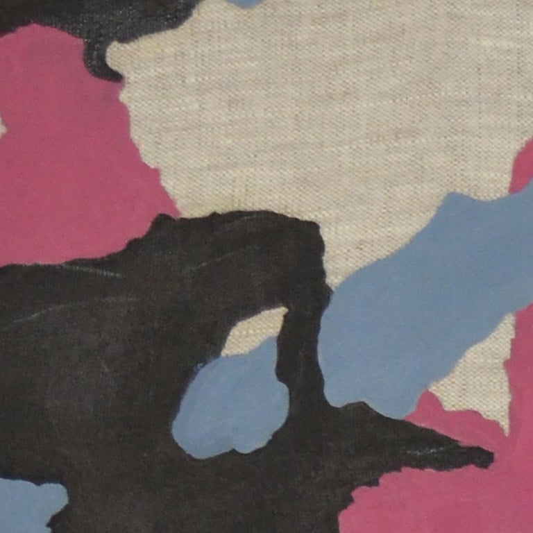 Urban Camo, Oil on linen, 70cm x 60cm, 2021 - Painting by Qijun Li