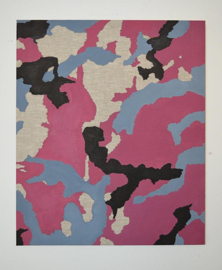 Qijun Li Still-Life Painting - Urban Camo, Oil on linen, 70cm x 60cm, 2021
