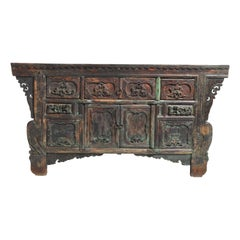 Qing Dynasty Altar Coffer with Four Drawers & Original Patina