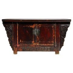 Qing-Dynasty Butterfly Cabinet with Original Lacquer and Patina