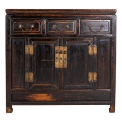 Qing Dynasty Cabinet with Three Drawers and a Pair of Doors