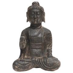 Qing Dynasty Carved Stone Buddha
